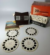 3-d View-master Model E In Box With 4 Reels