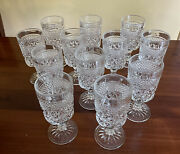 Anchor Hocking Wexford 12 Claret Wine Juice 8 Oz Goblets Clear Usa