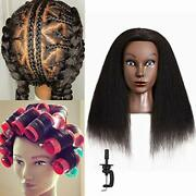 Real Afro Cosmetology Mannequin Head 100 Human Hair Hairdresser Training