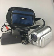 Panasonic Pv-gs39 Mini Dv Camcorder 30x Zoom Sd Case Charger Cables - Tested