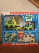Vintage 1978 Fisher Price Little People Lift And Load Lumber Yard 944 Rare