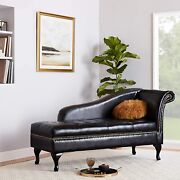 Furniture Of America Celine Storage Upholstered Chaise With Nailhead Trim