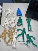 Lot11 Vintage Plastic Baseball Player Figures Toys 6 Inch Tall 7634