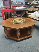 Vintage Octagon Brazier Table With Utensils Very Good Condition - Custom Made