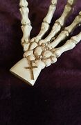 Rare Antique 15 Inch Rosary With Case Oddities Vintage Jesus Crucifix