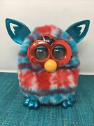 Hasbro Furby Boom Red And Blue Tie Dye Blue Ears Electronic Talking Plush Toy 2012