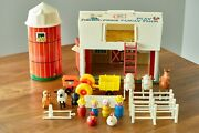 Complete + Ladder Vintage Fisher Price Little People Play Family Farm Silo 915