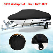16-18ft 600d Oxford Fabric High Quality Waterproof Boat Cover With Storage Bag