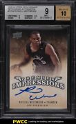 2008 Upper Deck Premier Impressions Russell Westbrook Rookie Auto /50 Bgs 9 Mint