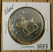 1973 Canadian Silver Dollar. Royal Canadian Mounted Police, Uncirculated