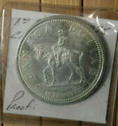 1873-1973 Canadian Silver Dollar. Royal Canadian Mounted Police, Uncirculated