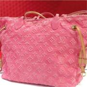 Used 2012 Louis Vuitton M40834 Neverfull Mm Tote Bag Rose With Atorage Bags