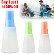 Portable Silicone Oil Bottle Brush Bbq Grill Baking Pastry Kitchen Cooking Tools