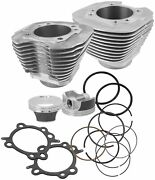 Sands Cycle 910-0201 97in. Big Bore Kit - Silver Powder-coated