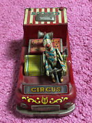 Vintage Exelo American Circus Truck Tin Toy Battery Operated Japan 1950s Rare