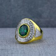 Exclusive Heavy Solitaire Stone Ring 22k Yellow Gold Menand039s Gold Ring Cz Stone 27