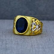 Exclusive Heavy Solitaire Stone Ring 22k Yellow Gold Menand039s Gold Ring Cz Stone 32