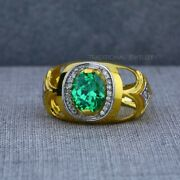 Exclusive Heavy Solitaire Stone Ring 22k Yellow Gold Menand039s Gold Ring Cz Stone 35
