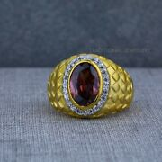 Exclusive Heavy Solitaire Stone Ring 22k Yellow Gold Menand039s Gold Ring Cz Stone 38