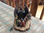 """V Rare Disney Tradition 'fantasia Symphony' Carved By Heart Unboxed With Tag 8"""""""