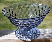 Vintage Fostoria American Blue 12 Small Punch Bowl / Fruit / Tom And Jerry Bowl