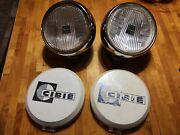 Classic Vintage Cibie Oscar 7 180mm H1 Fog Lights Lamps And Covers Mini Vw 911
