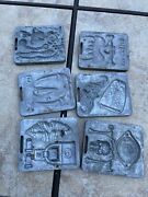 1966 Vintage Thingmaker Fright Factory Creepy Crawlers Molds Skeleton Chains Lot