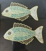 Couroc Fish Turquoise Inlaid Tray Mid-century Attached Maple Cheese Board Beach