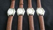 Lot Of 4 New Menand039s Wrangler Watches 10 Free Spare Batteries Watch Brown Band