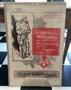Original 1919 Wwi Victory Liberty Loan Loan Poster In Great Condition