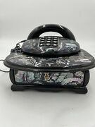 Chines Mother Of Pearl Lacquerd Wooden Phone With Drawer