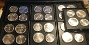 1976 Montreal Olympics Sterling Silver Bu 28 Piece Set