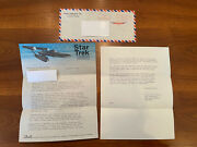 Vintage Star Trek- Gene Roddenberry Letter To And From Fan- Fantastic Content