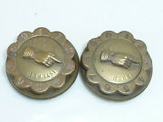 Pair Victorian Brass Whist Game Score Markers Antique Playing Cards Game C1860