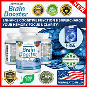 Advanced Brain Booster Supplement Memory Focus Mind And Clarity Enhancer Usa Made