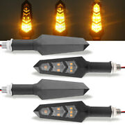4x Flowing Motorcycle Led Turn Signal Blinker Light For Kawasaki Scooters Yamaha