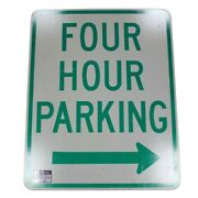 4 Hour Parking Behind Sign Authentic Street Road State Highway Sign 30 X 24