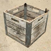 Willow Farm Dairy Milk Wooden Crate Chicago Il Wood Box .  1