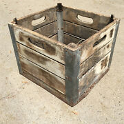 Willow Farm Dairy Milk Wooden Crate Chicago Il Wood Box .  2