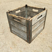 Willow Farm Dairy Milk Wooden Crate Chicago Il Wood Box .  3