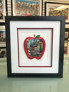 Charles Fazzino 3d Artwork The Stimulus Apple Signed Numbered Ap Edition