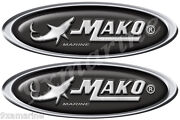 Mako Marine Boat Oval Stickers. Remastered Stickers For Boat Restoration Project