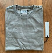 Fog - Fear Of God Essentials T-shirt Taupe/cream Ss21/brand New/100 Authentic
