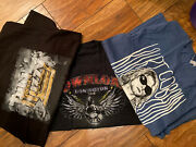 3 Tshirt Bundle Thin Lizzy 2012 Anddownload 2011 Official And Curt Contain Size M
