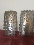 Silver Candle Sconces For Wall Decor Set Of 2