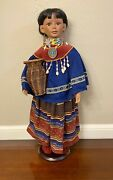 Native American Porcelain Doll-collectible Porcelain Dolls-limited Ed.sale