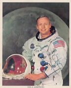 Neil Armstrong Inscribed Signed Photo In Space Suit