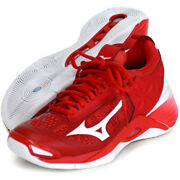 Mizuno Japan Menand039s Wave Momentum Low Volleyball Shoes V1ga1912 Red White