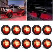 10x Red Led Rock Lights For Jeep Offroad Atv Truck Underbody Wheel Well Light