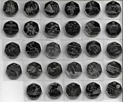Great Britain - London 2012 Games - All 29 Coin Set 50p Bu Superb Mint Condition